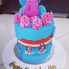 Images about #blueycake on Instagram Edible Printing, Custom Cakes, Sprinkles, Dog, Birthday, Instagram, Personalized Cakes, Diy Dog, Birthdays