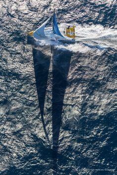 skipper Kito de Pavant  Aerial image bank while training for the Vendee Globe of IMOCA Bastide Otio, skipper Kito de Pavant (FRA), off La Ciotat, on June 19th, 2016 - Photo Gilles Martin-Raget / Bastide Otio / Vendee GlobeImages aériennes de Kito de Pavant (FRA), skipper Basti
