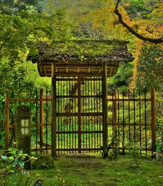 Zen Garden… Entrance gate of Japanese garden in Kamakura - Gates and fences in…