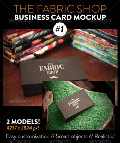 The Fabric Shop Business Card #1 Mockup — Photoshop PSD #realistic #professional • Available here → https://graphicriver.net/item/the-fabric-shop-business-card-1-mockup/8676036?ref=pxcr