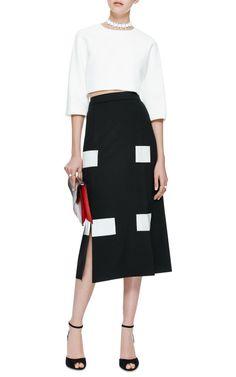 Slit-Front Twill Midi Skirt by Kenzo - Moda Operandi