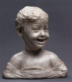 The Laughing Boy sculpture by DESIDERIO DA SETTIGNANO, circa 1460, marble, Kunsthistorisches Museum, Vienna