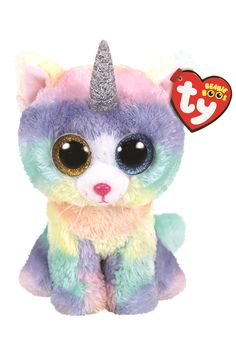 From the hugely popular Ty Beanie Boos range. Cute, soft and highly collectable. Suitable from birth. Remove all tags before giving to child. Retain tags for future reference. Surface wash only. All Beanie Boos, Dog Beanie, Beanie Babies, Ty Stuffed Animals, Plush Animals, Ty Beanie Boos Collection, Beanie Boo Birthdays, Boo And Buddy, Hello Kitty