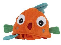 Product Description Color: Orange - Sushi the Tropical Fish Zoochini Toddler Hooded Bath Towels