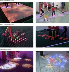 Seekway high definition interactive led floor in shopping mall