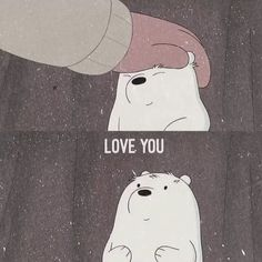 my heart beats only for you We Bare Bears Wallpapers, Panda Wallpapers, Cute Cartoon Wallpapers, Animes Wallpapers, Ice Bear We Bare Bears, We Bear, Sad Wallpaper, Disney Wallpaper, Vintage Cartoons