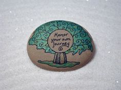 Stone PoemHand Painted stone with a message by QuietDove on Etsy