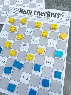 5th Grade Math Games, Fourth Grade Math, Fun Math, Math Activities, Printable Math Games, Teaching Math, Teaching Multiplication, Homeschool Math, Curriculum