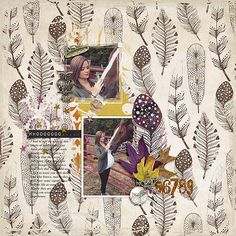 Whooo | The Lilypad from Jan using the Now & Then Collab Bundle #etcbydanyale #digitalscrapbooking #digiscrap #memorykeeping #shabby #fall