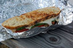 fire grilled camp sandwich. We can't wait to try this the next time we camp (or use the fire pit)