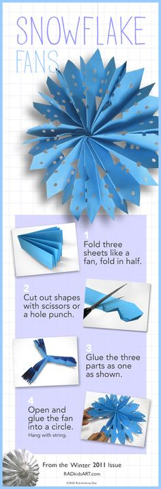 Paper Fan Snowflakes ©RADkidsart.com