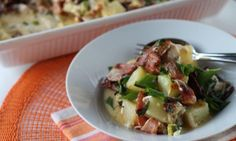 Easy chicken and baked potato casserole