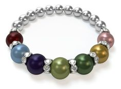 Design a Mothers Bracelet in 3 easy steps. Choose from 12 birthstone colors. Featuring genuine Swarovski Pearls.This would be the maternal line from my daughter through seven generations. (Katelyn, Kristy, Linda, Jewell, Dovie, Martha, Amelia)