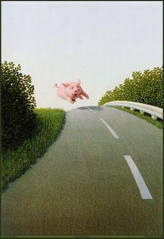 Michael Sowa German Artist  I don't know why, but I love pig art!