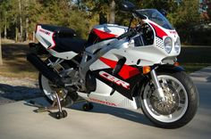 A gorgeously kept example of an early Honda CBR900RR. When I was young, this bike was he hottest thing on the street. In historical context, this is the genesis of modern liter-bike performance.