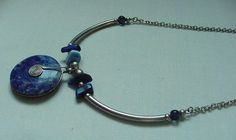 GORGEOUS VINTAGE SOUTH AMERICAN LAPIS LAZULI & SILVER NECKLACE WITH SYMBOL  #Unbranded #IncaSouthAmerica