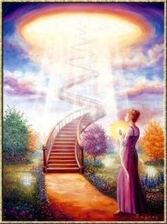 By Doreen virtue Spiritual Guidance, Spiritual Awakening, Mario, Doreen Virtue, Angel Cards, Stairway To Heaven, Guardian Angels, Visionary Art, Celestial
