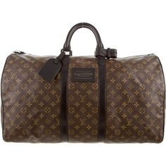 Pre-owned Louis Vuitton Waterproof Keepall 55 (7.110 BRL) ❤ liked on Polyvore featuring men's fashion and neutrals