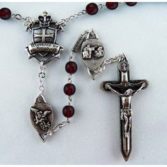 """""""The Warriors Rosary"""" (All Medals for this rosary have an antique silver finish on all medals including Crucifix and Centerpiece)  Designed by the author of the book, """"Called to Knighthood"""", Thomas K Sullivan, and manufactured by the Vatican rosary makers in Italy, Ghirellis, this rosary is the only one-of-its-kind design spanning over 10 years.  This Warriors Rosary brings together the elements of """"Military Combat"""" and """"Spiritual """"Warfare"""" and places one of the most powerful weapons in ..."""