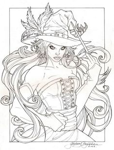 Adult Coloring Pages Witches New Witchy Lineart by Ranalea On Deviantart Witch Coloring Pages, Coloring Pages For Grown Ups, Halloween Coloring Pages, Adult Coloring Book Pages, Printable Adult Coloring Pages, Coloring Books, Desenhos Halloween, Arte Dc Comics, Wicca