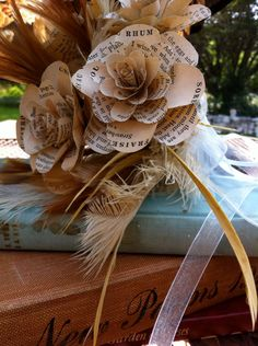 Vintage Cookbook Bouquet by Homonymic on Etsy
