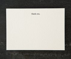 thank you. letterpress printed. flat card. 050 by shopsaplingpress