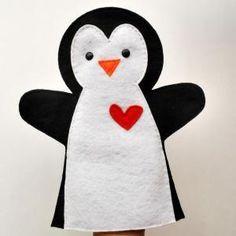 Penguin Hand Puppet PDF Sew..
