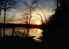 Sunset from the banks of the Potomac River in Dumfries, Virginia.