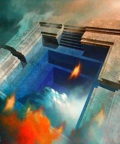 Titolo: Strati di conoscenza - cm 120x100 - 2003 Ossola Raffaello