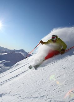 Love to ski, it make you forget about all the troubles you might be going through