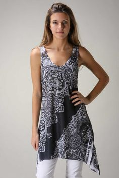Urban x Womens Clothing Black White Dress Paisley Tunic Top Cover Up New | eBay