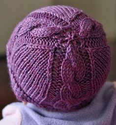 Free Knitting Pattern for Otis Baby Hat - This baby hat features 3 cable panels and was originally sized for newborns, though other Ravelrers have adapted the pattern for other sizes. Designed by Joy Boath