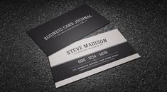 Classic Black and White Vintage Business Card Template