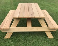Wooden Pallet Furniture Master Picnic Table with Seats - Heavy Duty for Daily Use! Western Red Cedar All Screw Construction Table Height Width Length Weight 131 Folding Picnic Table Bench, Octagon Picnic Table, Build A Picnic Table, Wooden Picnic Tables, Farmhouse Table With Bench, Swing Table, Pallet Tables, Pallet Chair, Folding Chair