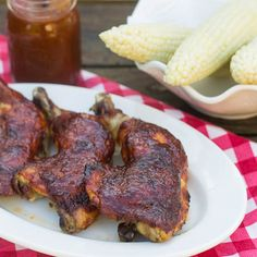 Oven Barbecued Chicken ( I would like to try this in my Ninja)