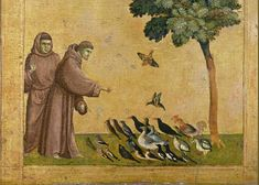 Francis Greeting Card featuring the painting Saint Francis Of Assisi Preaching To The Birds by Giotto di Bondone Medieval Art, Renaissance Art, Patron Saint Of Animals, Medieval Paintings, World Famous Artists, Saint Francis, Francis Of Assisi, Patron Saints, 2d Art