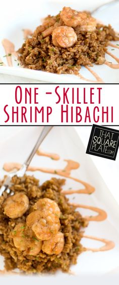 A quick and easy hibachi recipe with fresh shrimp and flavor-filled teriyaki rice. I served with my version of yum-yum sauce.