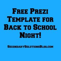 Back to School Night Tips + A Free Prezi Template!