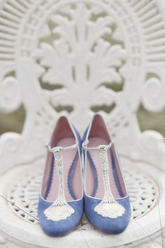 Wedding Shoes // Bridal Shoes //Cornflower Blues: Wedding Inspiration & Colour Ideas see more at http://www.wantthatwedding.co.uk/2015/07/12/cornflower-blues-wedding-inspiration-colour-ideas/