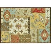 pretty and bright - kinda like this Elmwood Patch Multi Rug