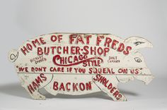 Painted pig early trade sign