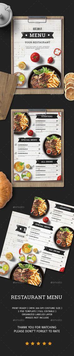 vintage hand made trifold food menu a4 us letter food menus print templates menu restaurants food menu design pinterest food menu template food