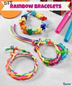 DIY Rainbow Bracelets For Kids