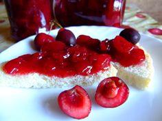 dulceata de cirese carnoase Panna Cotta, Raspberry, Fish, Meat, Fruit, Ethnic Recipes, Beef, Dulce De Leche, The Fruit