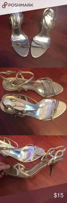 🎉CLOSEOUT SALE🎉 Lasonia Champagne Heels Got these for a wedding I was in. Wore them only for the wedding. In great condition! Great for weddings, proms, any dress up event! Lasonia Shoes Heels