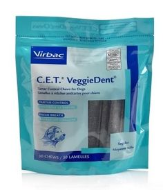 Henry & Clemmies, Llc: Virbac C.E.T. Veggiedent Tartar Control Chews For Dogs, Regular
