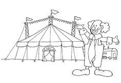 Resultado de imagen de personajes circo dibujo