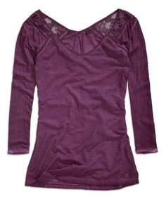 Look what I found on #zulily! Violet Lace Three-Quarter Sleeve Top by TIMEOUT #zulilyfinds