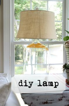 Savvy Southern Style: From Grungy to Grande {diy lamp from demijohn}