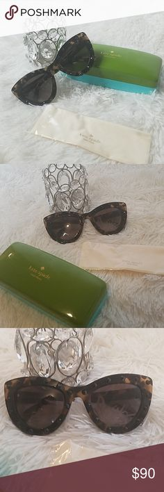 177ec1899d118 🆕 🌸Kate Spade Studded Sunglasses And Case Authentic  Kate Spade Sunglasses  New  Nwot With case Color  Tortoise Lens  Brown These glasses are bold and  ...